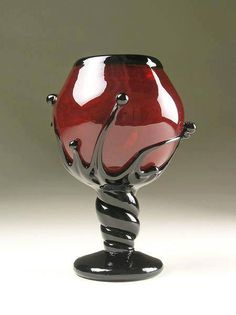 Goth: The ~ Vlad's RoseBud Goblet Chalice; Gothic Glass Series No. Red Glass, Glass Art, Goth Home, Gothic House, In Vino Veritas, Deco Design, Design Design, Home And Deco, Cool Stuff