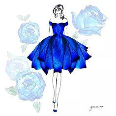 20 trendy ideas for fashion design dress sketches grace ciao Grace Ciao, Dress Illustration, Fashion Illustration Dresses, Fashion Illustrations, Dress Sketches, Fairy Dress, Fashion Design Sketches, Flower Dresses, Dresses Art