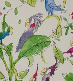 Cockatoos Wallpaper by Osborne & Little | Jane Clayton Love this for downstairs loo...