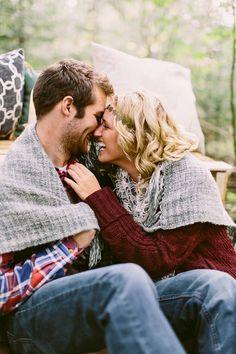 fall stylized shoot, couple under blanket it woods, engagement, laughing couple, Wisconsin Wedding,   #stylizedshoot www.james-stokes.com
