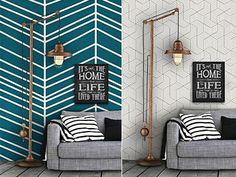 Η εντυπωσιακή διακόσμηση στις κάθετες επιφάνειες του σπιτιού είναι θέμα... τοίχου και σίγουρα όχι τύχης! Πάρτε ιδέες και -με ελάχιστο κόστος- δώστε νέο αέρα στο σπίτι σας. Home, Ad Home, Homes, Haus, Houses