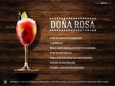 Signature Cocktails CLXXV. DOÑA ROSA. | Nueva Mixologia Colombiana