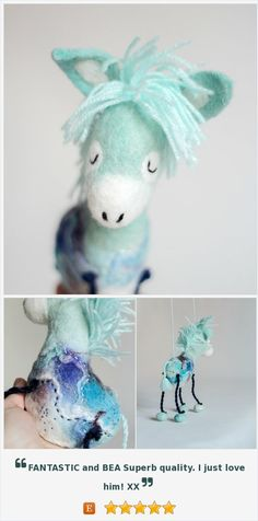Felted Donkey - Jansen. Small Felted toy, Felt Animals, Felt toy, Marionette gift for kids Stuffed baby shower gift  nursery decor toy https://www.etsy.com/listing/292885725/