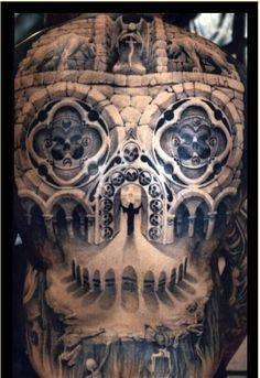 Procurando inspiração para sua próxima tattoo? Se você curte tatuagem de caveira E ilusão de ótica, a combinação entre os dois vai deixar você de queixo caído!Confira:| via