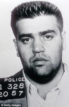 """1957 mug shot of Vincent """"the Chin"""" Gigante, a former professional boxer who led the Genovese crime family from 1981 to"""