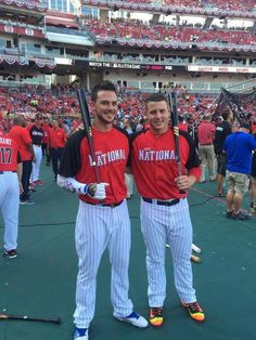 Kris Bryant and Anthony Rizzo, 2015 All Star Game.