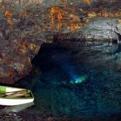 Carnglaze consists of three underground caverns reaching over 100 meters into a wooded hillside between Liskeard and Bodmin. Cornwall, Rum, Waves, Natural, Outdoor, Outdoors, Rome, Ocean Waves, Outdoor Games