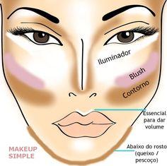 Highlighting and contouring - Iluminação e Contorno makeup