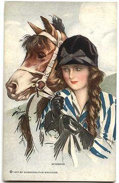 Vintage Rose Album: Koń