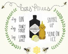 Bees Knees - one cute cocktail recipe