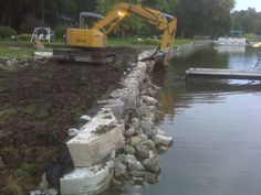 How to install rip rap correctly lakescaping pinterest lakes stone seawalls wilhelm landscapes solutioingenieria Image collections