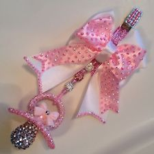 Romany diamante Crystal Bling Baby girl boys Dummy Pram Charm.