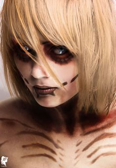 The female titan from Attack on Titans (by xJNFR).