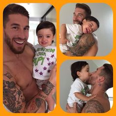 Sergio Ramos was reunited with his son