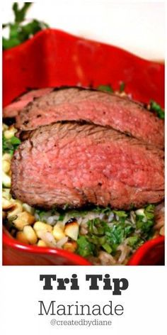 Hot off the grill is this wonderfully easy dinner, grilled tri tip with basmati rice and grilled corn. Cilantro Recipes, Crockpot Recipes, Salad Recipes, Healthy Recipes, Simply Recipes, Great Recipes, Dinner Recipes, Favorite Recipes, Dinner Ideas