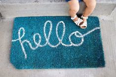 DIY Welcome Mats - DIY Hello Doormat - Greet Guests in Style with These Easy and Cheap Home Decor Ideas for Your Entry. Doormat Tutorials for Creative Ways to Cover Your Floors and Front Door http://diyjoy.com/diy-welcome-mats