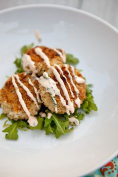 Cilantro-Lime Fish Cakes with Sriracha Lime Mayonnaise via @Shaina Olmanson | Food for My Family