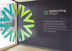 35 Inspiring Office Branding Designs – Web & Graphic Design on - Wall Ideas Office Wall Design, Office Mural, Office Signage, Office Branding, Wayfinding Signage, Signage Design, Office Designs, Office Walls, Office Decor