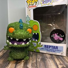 Custom Glitter Funko Pop Reptar Nickelodeon