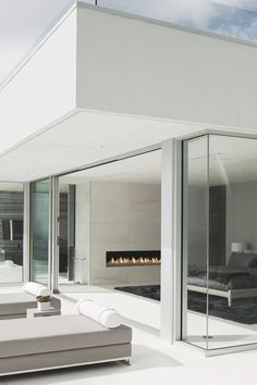 Interior from the exterior Oriole Way by McClean Design | Source | More