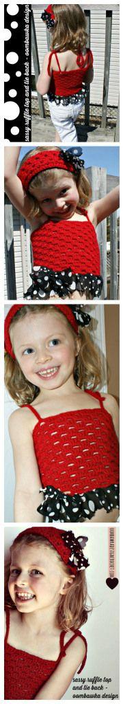 Sassy Ruffle Top & Tie Back Oombawka Design Crochet