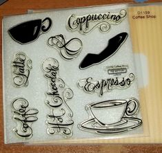 Penny Black Rubber Stamp Coffee Theme Better Latte than Never Wood Mounted Coffee Shop, Cappuccino Coffee, Latte, Coffee Theme, Penny Black, Close To My Heart, Black Rubber, Hot Chocolate, Stamp