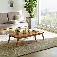 마루 확장형 좌식테이블 브라운 컬러 - 한샘 maru extendible sitting table - hanssem