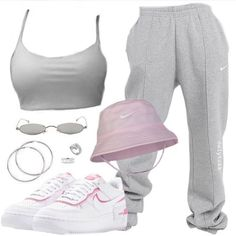 Baddie Outfits Casual, Cute Comfy Outfits, Komplette Outfits, Retro Outfits, Polyvore Outfits, Stylish Outfits, Cool Outfits, Swag Outfits For Girls, Girls Fashion Clothes