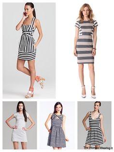 The Woman Wearing It #stripes #style #trend #blackandwhite #blog #fashion #stripeddresses #katespade #aqua