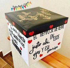 Diy Gift Box, Diy Gifts, Valentines Diy, Valentine Day Gifts, Birthday Gifts For Best Friend, Christmas Gift Box, Romantic Gifts, Diy Birthday, Love Gifts