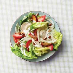 Summer Waldorf with Yogurt-Tarragon Dressing