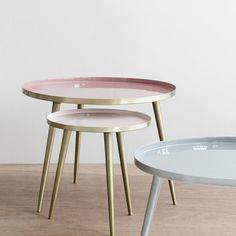 Des tables basses rose millennials, Broste Copenhagen
