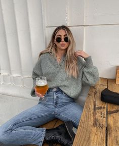 Outfits Otoño, Casual Outfits, Fashion Outfits, Spring Summer Fashion, Autumn Winter Fashion, Winter Style, Outfit Invierno, Look Girl, Cool Style
