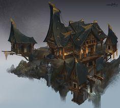 ArtStation - Fantasy architecture 2, Chen Cheng