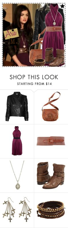 """""""Aria 1.1c"""" by silver-screen-style ❤ liked on Polyvore featuring Helmut Lang, H&M, Philosophy di Alberta Ferretti, Dorothy Perkins, 1928, Frye, Just Female Acces, Chan Luu, wide belts and drop earrings"""