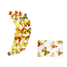 3D Wall Stickers Home Decor Butterflies Wall Sticker Kids Home Decoration Butterflies On The Wall Decals Wall Decoration