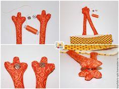 Fabric Dolls, Handmade Bags, Clothes Hanger, Elsa, Sewing Patterns, Textiles, Japan, Homemade, Creative