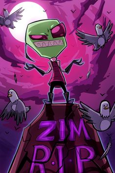 "You Asked for Zim? by VengefulSpirits on DeviantArt. I love this. Zim is like ""I'm back."""
