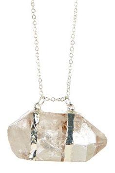 HauteLook | Rocks & Gems By Alisa Michelle: Raw Quartz Crystal Double Point Pendant Necklace