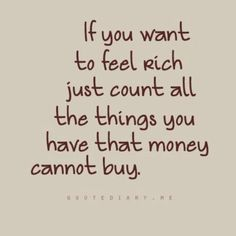 on being rich