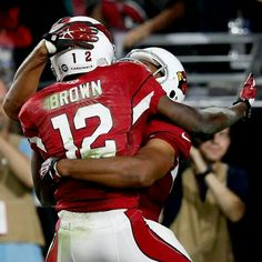 Another hell of a touchdown for John Brown! Nfl Arizona Cardinals, Football Helmets, Brown, Fashion, Moda, Fashion Styles, Brown Colors, Fashion Illustrations