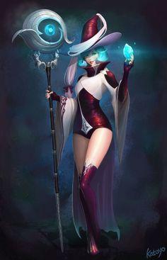 Art of CG Girls - Sorceress Choi by SangHyun Yu