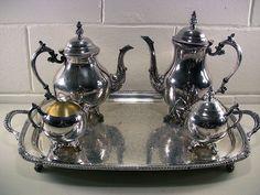 Vintage Silver Plate 5-Pc Coffee Serving Set FB Rogers – EclectiquesBoutique.com