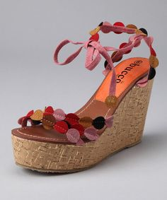 Take a look at this Pink Venice Wedge by Blow-Out on #zulily today!