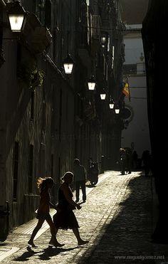 Cadiz, casco antiguo (ciudad colonial), España.