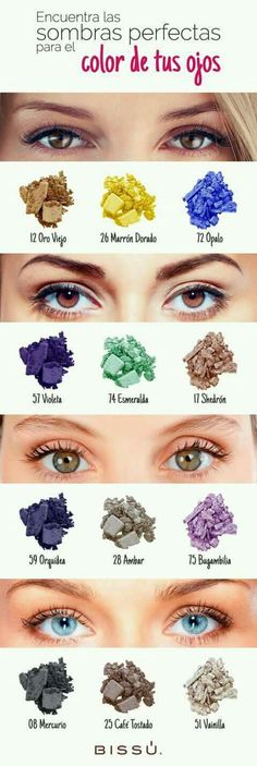 Makeup Artist ^^ | https://pinterest.com/makeupartist4ever/ Sombras de acuerdo al color de tus ojos