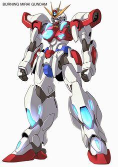 GUNDAM GUY: Gundam Artwork: Burning Mirai Gundam