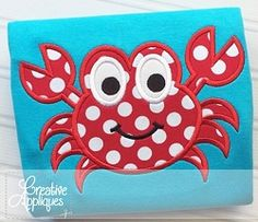 Crab Applique - 4 Sizes! | What's New | Machine Embroidery Designs | SWAKembroidery.com Creative Appliques