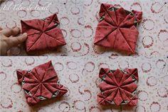 Tutorial, flor de tela estilo origami