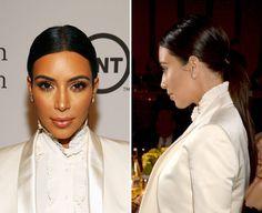 Do you like Kim's sleek, straight ponytail?